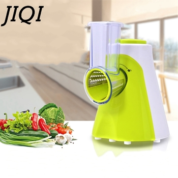 JIQI Multifunctional Electric Salad Fruit Vegetable Slicer Cutter Carrot Potato Chopper Cutting Machine Stainless steel Blade EU 1