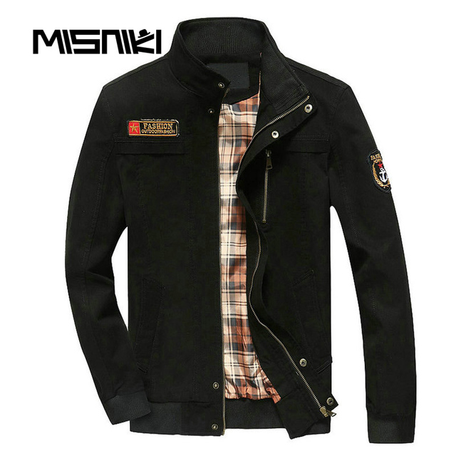 MISNIKI 2017 Spring Autumn Bomber Jacket Men Military Style Casual ...
