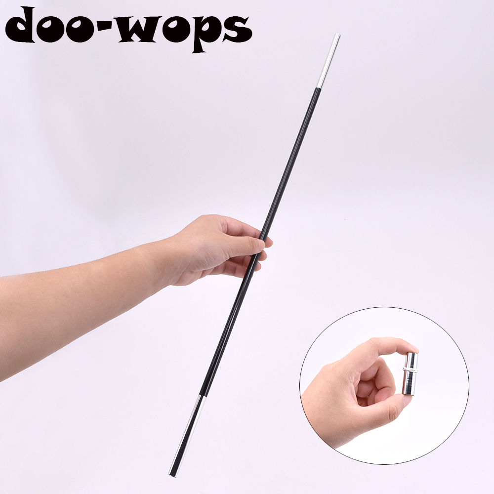 20pcs Appearing Mini Wand Stick (Black,50cm Length) Magic Tricks Magic Cane Stage Street Bar Party Accessories Kids Toys Comedy