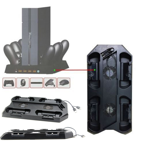 High Quality Charging Dock w/ Cooling Fan&4 Controller Charger & 4 usb ports 10 in 1 Multifunction Console for Playstation 4 PS4