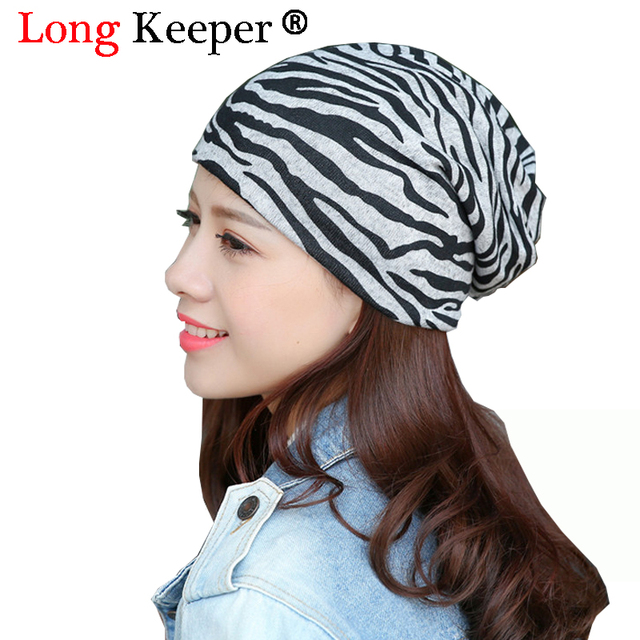 Long Keeper 2018 Hot Women Ladies Hat Cotton Winter Windproof Hat Fashion  Printing Leopard Zebra Pattern ba9bd2061bf