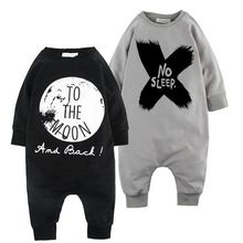 2016 Toddler Kids Infant Baby Girl Boy Romper XO print Long Sleeve Rompers font b Jumpsuit