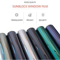 Mirror Surface Sticker Protect Privacy Anti Uv Security Self Adhesive Window Glass Film Car Window Film