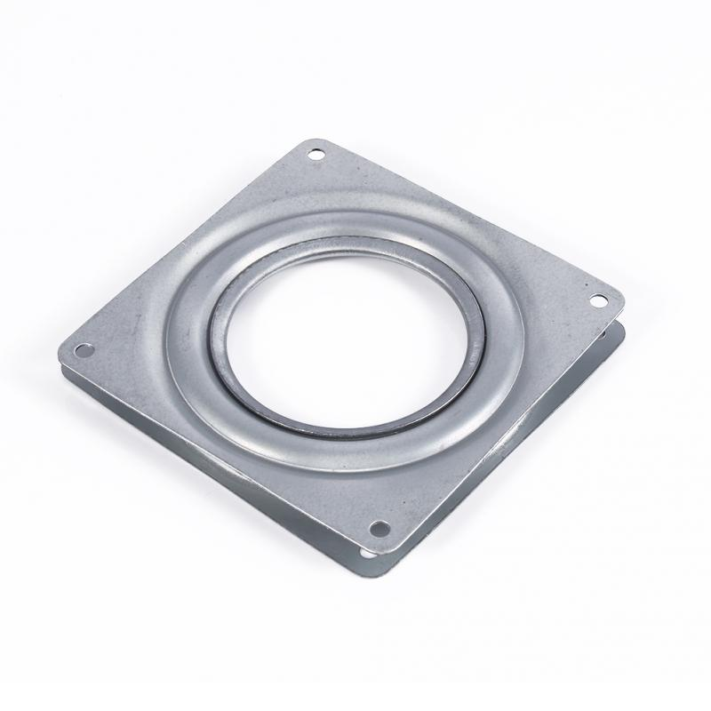 Furniture 3 Inch Rotating Plate Replacement Metal Lazy Susan Bearing Turntable Tv Rack Desk Seat Bar Tool 72mm X 72mm X 8.3mm