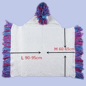 Image 5 - Winter Unicorn Scarf Children Crochet Cotton Warm Shawl Scarf Set Boys Girls Fashion Cartoon Stole Pashmina Novelty Hat