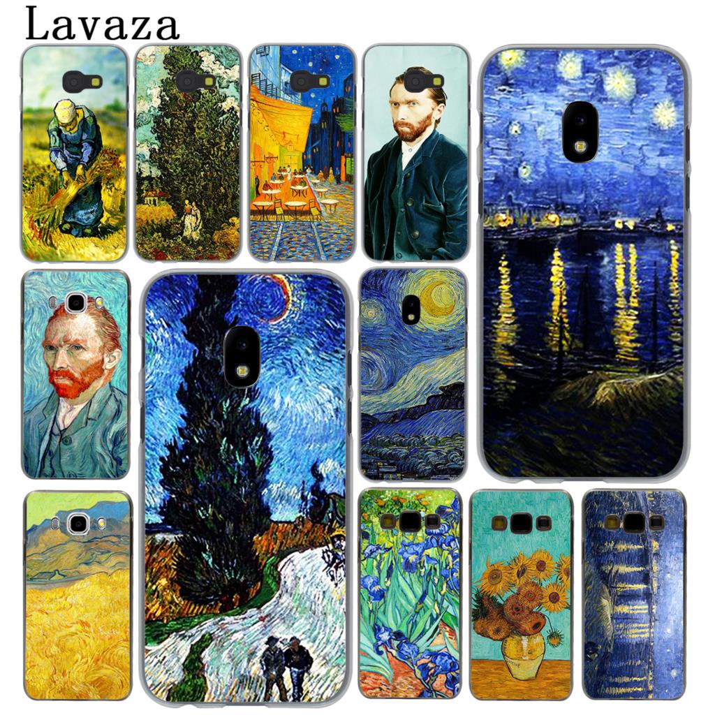 Lavaza Vincent Willem van Gogh Tardis Hard Phone Case for Samsung Galaxy J5 J1 J2 J3 J7 2017 2016 2015 2018 J3 J5 Prime Cover