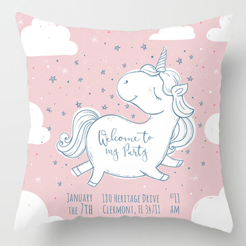 45*45cm Dabbing Unicorn Pillow Case Home Decorative For Sofa