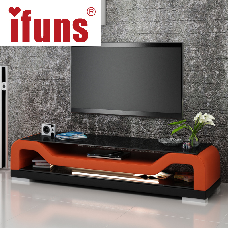 Modern tv stand furniture glass living room tv stand tv for Stylish tv stands furniture