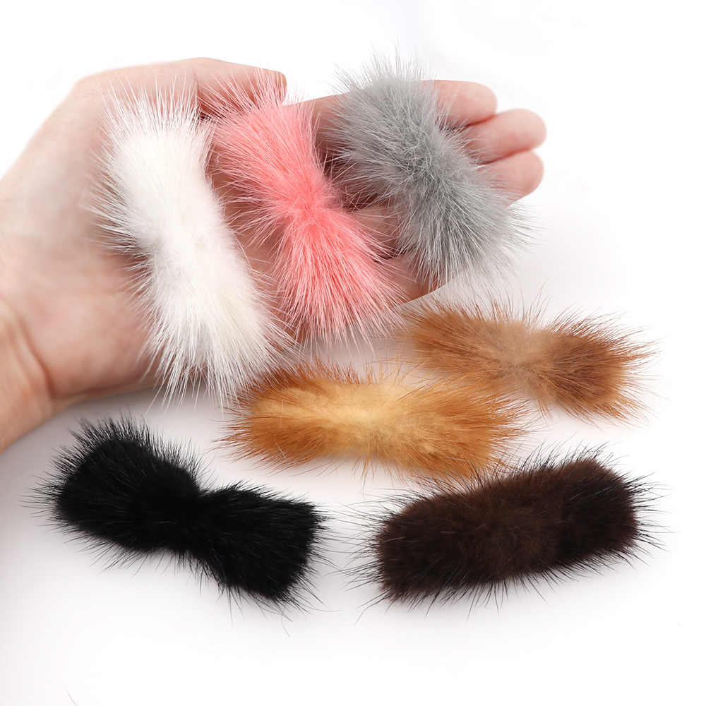 2Pcs 7 Colori Visone Pompon Bowknot per Cucire su Lavorato a Maglia Catena Chiave Sciarpa Scarpe Cappelli di Pelliccia Artigianato Fai da Te Capelli accessori