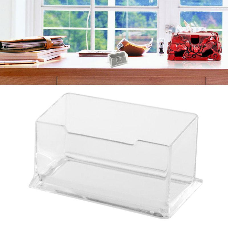 Acrylic Portrait Desktop Business Card Box Boxes Postcards Transparent Holder Home Office School Supplies