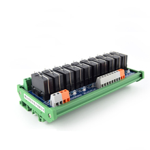 10-way Omron Relay Single Open Module, Electromagnetic Relay MCU Control Board 8 rs232 serial port relay control board anti electromagnetic high frequency interference computer control 8 way relay module