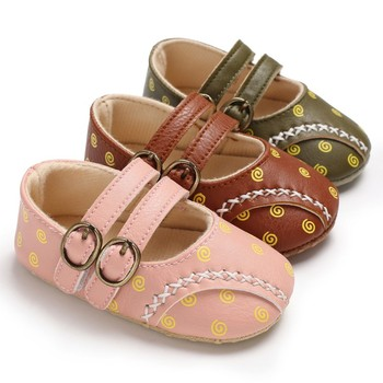 Toddler Baby Girl Shoes Soft PU Fashion Princess Shoes Print Infant First Walkers Newborn Baby Shoes Baby's First Walkers