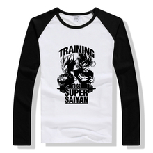Anime raglan long sleeve t -shirt training to go super saiyan letter print funny t shirts geek punk tops  boyfriend gift tshirt сумка printio training to go super saiyan