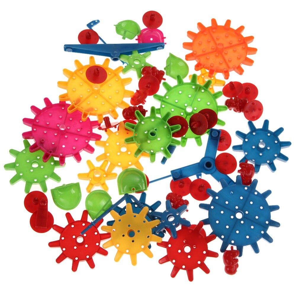 81 шт. строительных блоков Детские Пластик DIY блоки игрушки детские развивающие игрушки сборка красочные модели строительство комплект