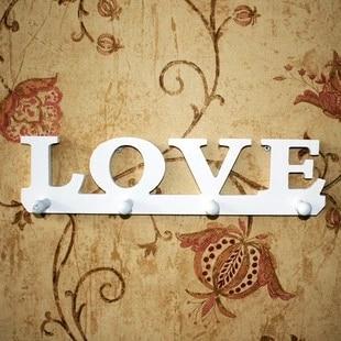 letras blancas de amor pastoral perchero de entrada de madera ikea creativo rack europea pared estante