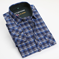 Autumn Winter 2016 Men's Casual Western Plaid Checked Brushed Shirt 100% Cotton Regular-fit Pocket Long Sleeve Flannel Shirts
