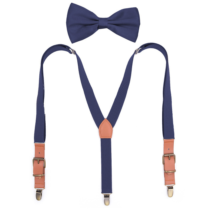 2019 Fashion Casual Adult Three Clips Y-shaped Belt Fashion Collage Women's Bow Tie Strap Set Combination