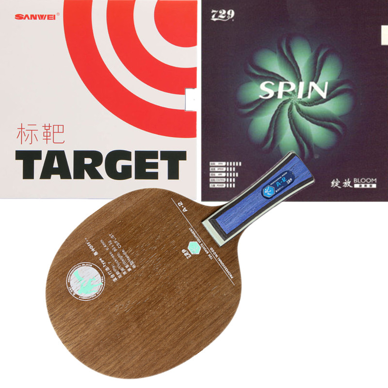 Friendship 729 A2 Carbon Fiber 729 SPIN Sanwe Target professional Table Tennis Blade With rubbers quality