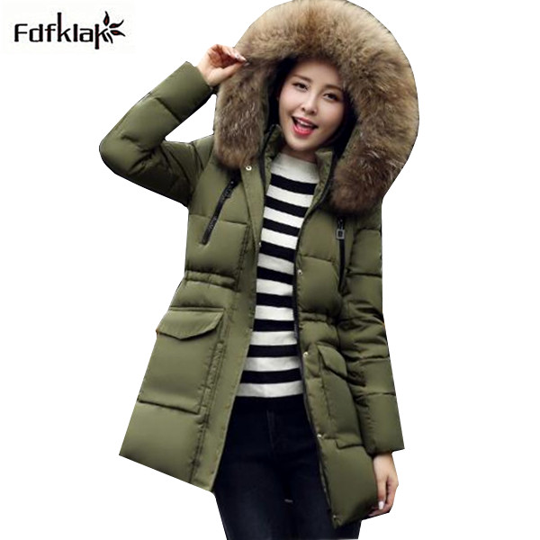 2017 Brand Winter Jacket Women Plus Size Down Parka Jackets Fur Collar Female Winter Coat Womens Parkas Cotton-padded Coats A324 winter jacket 2016 winter coat women parkas luxury fur coat plus size cotton padded down coats women wadded jackets warmth