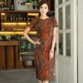 Shanghai Story Top Quality Cotton Linen cheongsam dress Chinese Women's Cheong-sam Linen Chinese national Qipao dress JY397