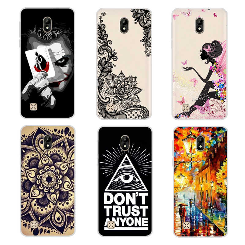 "Dexp Ixion ES550 Jiwa 3 Pro Case Cover 5.0 ""Soft Silicone Phone Cover Case untuk Dexp Ixion ES550 Jiwa 3 Pro Cover Warna Pola"