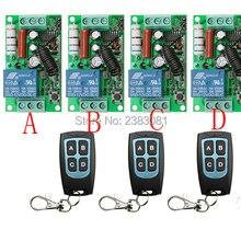AC220V 1CH 10A RF Беспроводной дистанционного Управление переключатель Системы teleswitch 3 передатчик и приемник 4 реле приемника умный дом переключатель