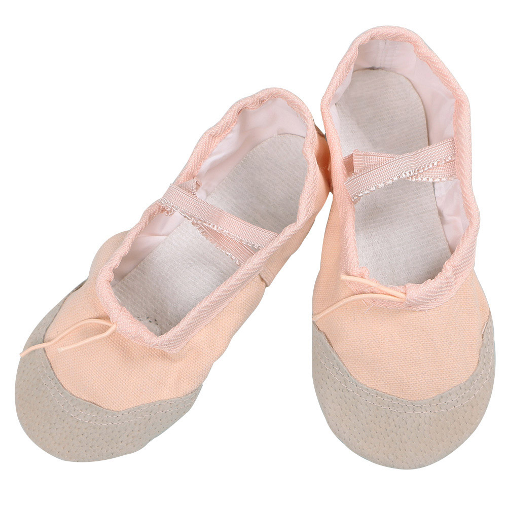 2017 Child Girl Soft Split Sole Breathable Leather Tip Dance Ballet Shoes Comfortable Breathable Fitness 4Colors Wholesale