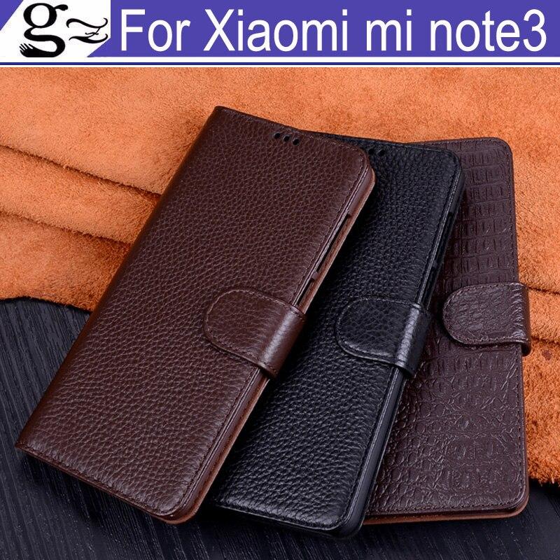 Étui à rabat en cuir externe + PC pour Xiao mi note3 coque arrière protection batterie couverture arrière étui pour Xiao mi note 3