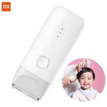 Xiaomi mitu dla dzieci elektryczna maszynka do strzyżenia włosów biały ceramiczny głowica do cięcia niski poziom hałasu profesjonalne IPX7 wodoodporne dzieci maszynka do włosów clipp