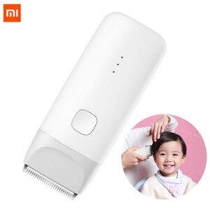 Image 1 - Xiaomi mitu dla dzieci elektryczna maszynka do strzyżenia włosów biały ceramiczny głowica do cięcia niski poziom hałasu profesjonalne IPX7 wodoodporne dzieci maszynka do włosów clipp