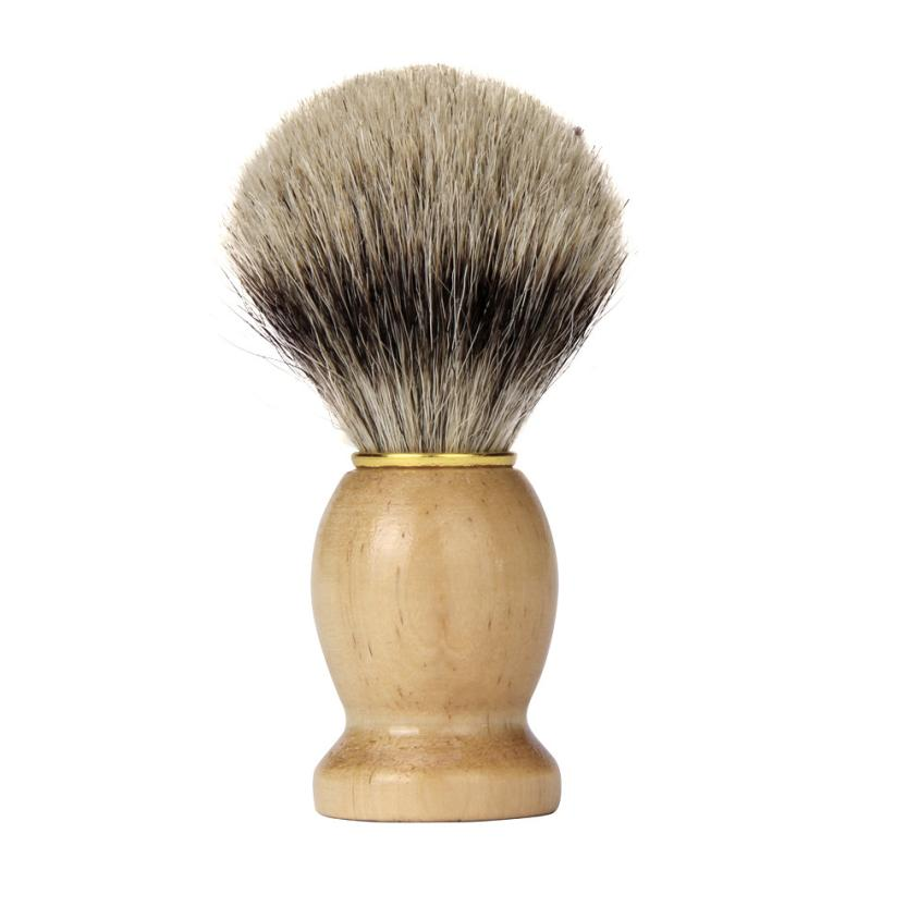 New Shaving Brush Badger Hair Men Wood Handle Shaving Brush Badger Hair For Men Father Barber Tool 3MY5