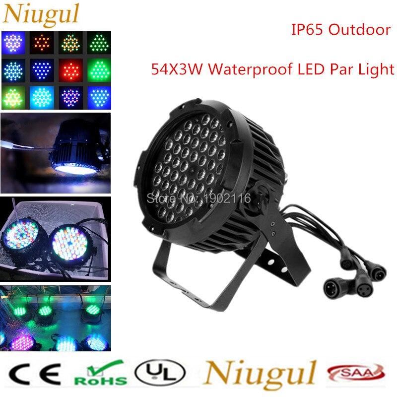 8pcs IP65 Outdoor Waterproof 54X3W LED Par Light/DMX512 DJ Equipments Controller Wedding Party Disco concert Stage effect Light