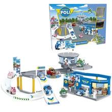 На Складе Горячая продажа деформация железнодорожный автомобиль полиции полиция Perley тема автостоянка головоломки детские развивающие игрушки для Детей игрушка
