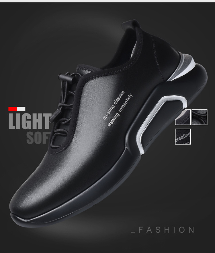 Spring Autumn Men Casual shoes Genuine leather Breathable Male Sneakers Lace-Up Flats Sport shoes zapatos de hombre 02A 3