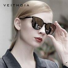 VEITHDIA marka Vintage dzień noc podwójne damskie okulary polaryzacyjne soczewki lustrzane kocie oko fotochromowe okulary dla kobiet 8520