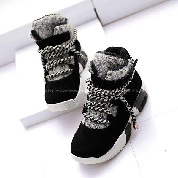 Aliexpress.com Comprar 2016 Mujeres de La Manera High Top Calzado Invierno Primavera Casual Zapatos de Mujer de Cuero Genuino Zapatos Planos Zapatos Mujer