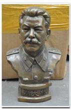 A bust of Stalin copper brass bronze sculpture great man ornaments 50 cm high