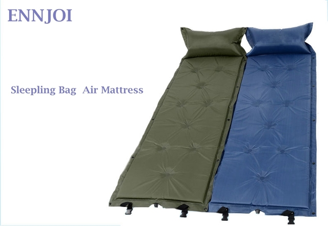 ENNJOI Sleeping Mat Mattress Self-Inflating Pad Portable Bed with Pillow C&ing Tent Mats Single  sc 1 st  AliExpress.com & ENNJOI Sleeping Mat Mattress Self Inflating Pad Portable Bed with ...