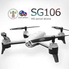цена на In Stock SG106 RC Drone Optical Flow 1080P HD Dual Camera Real Time Aerial Video RC Quadcopter Aircraft Positioning RTF Toys