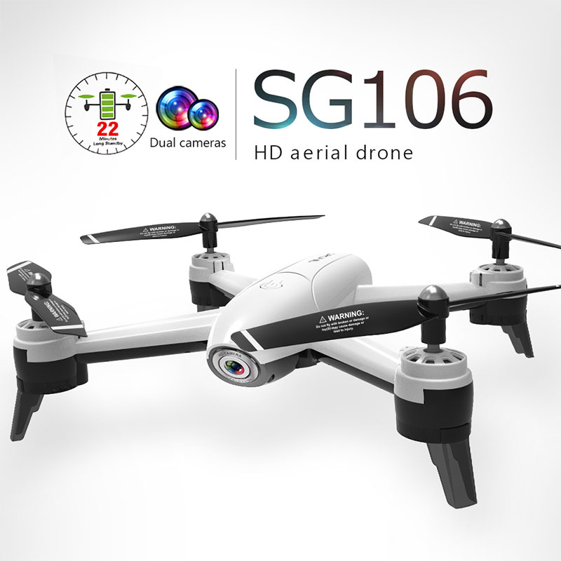 In Stock SG106 RC Drone Optical Flow 1080P HD Dual Camera Real Time Aerial Video RC Quadcopter Aircraft Positioning RTF Toys image