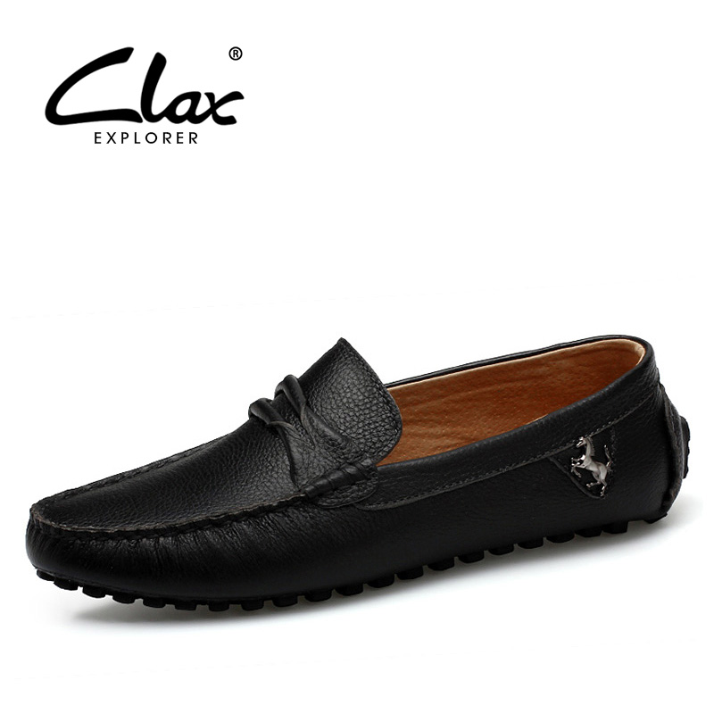Clax Man Moccasin Breathable Men's Loafers Designer Flat Soft Leather Shoe Fashion Boat Shoes Luxury Brand Hot Sales high quality genuine leather loafers men breathable casual shoes soft men flats fashion boat shoes lazy loafers man moccasin 2 5