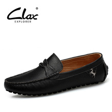 Clax Man Moccasin Breathable Men's Loafers Designer Flat Soft Leather Shoe Fashion Boat Shoes Luxury Brand Hot Sales