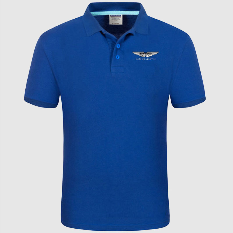 High quality logo crocodil Aston Martin logo   Polo   classic brand Men   Polo   Shirt Men Casual solid Short Sleeve cotton   polos
