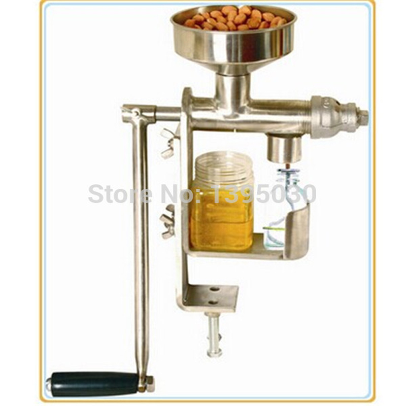 Handmatige oliepers Pindanoten Zaden Oliepers Expeller kleine olie-extractiemachine Druk op pure pinda-machine