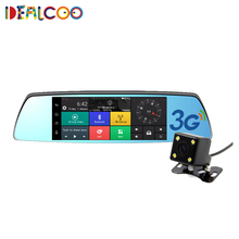 On sale Dealcoo 7 inch 3G Car DVR Camera GPS Bluetooth Dual Lens Rearview Mirror Video Recorder FHD 1080P Automobile DVR Mirror Dash cam