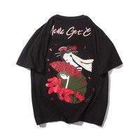 Japan Harajuku T shirt Men Fashion Hip Hop Male Entertainer Printed Tops male T shirt Short Sleeve T shirt For Men Clothing