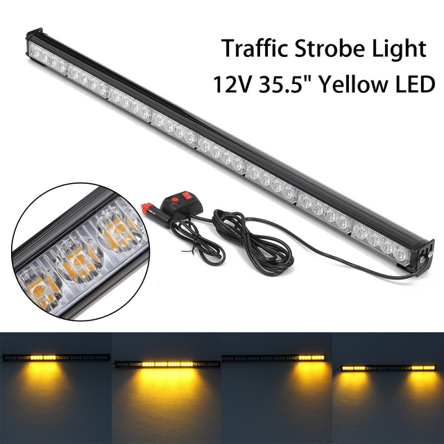 35,5 zoll Gelb LED Tag Licht LED Lampe Bar Verkehrs Strobe Licht Bar ...