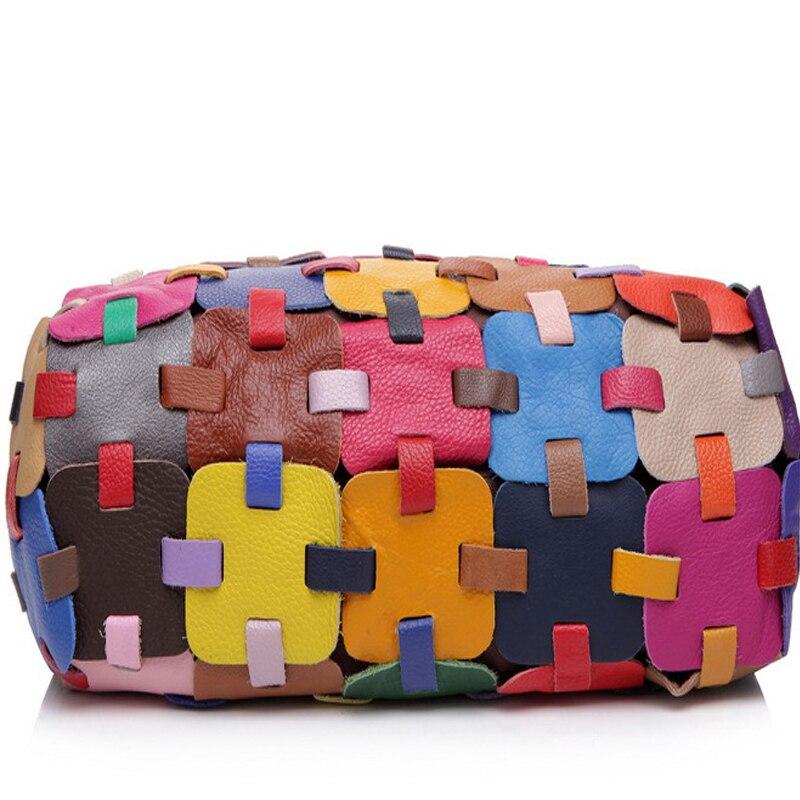 2016 mulheres mensageiro sacos de couro genuíno bolsa senhoras tecer ombro crossbody bolsa bolsas femininas marcas famosas - 4