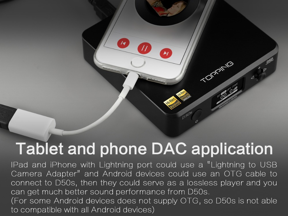 TOPPING D50S Bluetooth 5.0 ES9038Q2M AUDIO Decoding USB DAC-15