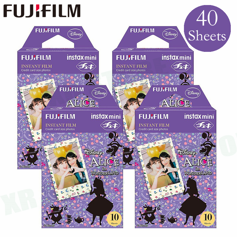 Fujifilm Instax Mini 8 9 Film Alice Fuji papier Photo instantané 40 feuilles pour 70 7 s 50 s 50i 90 25 partager SP-1 2 appareil Photo Lomo